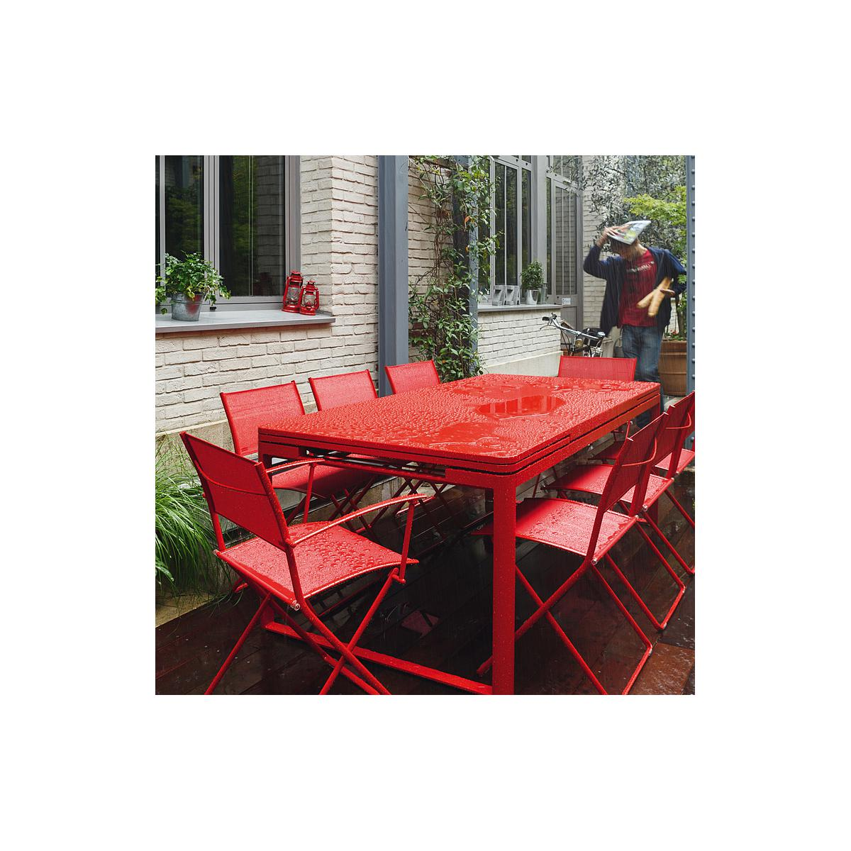 Table 2 rallonges 100x300cm BIARRITZ Fermob Blanc coton