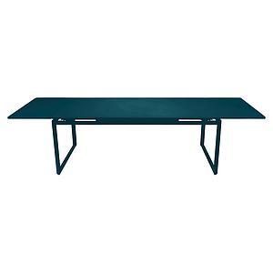 Table 2 rallonges 100x300cm BIARRITZ Fermob bleu acapulco