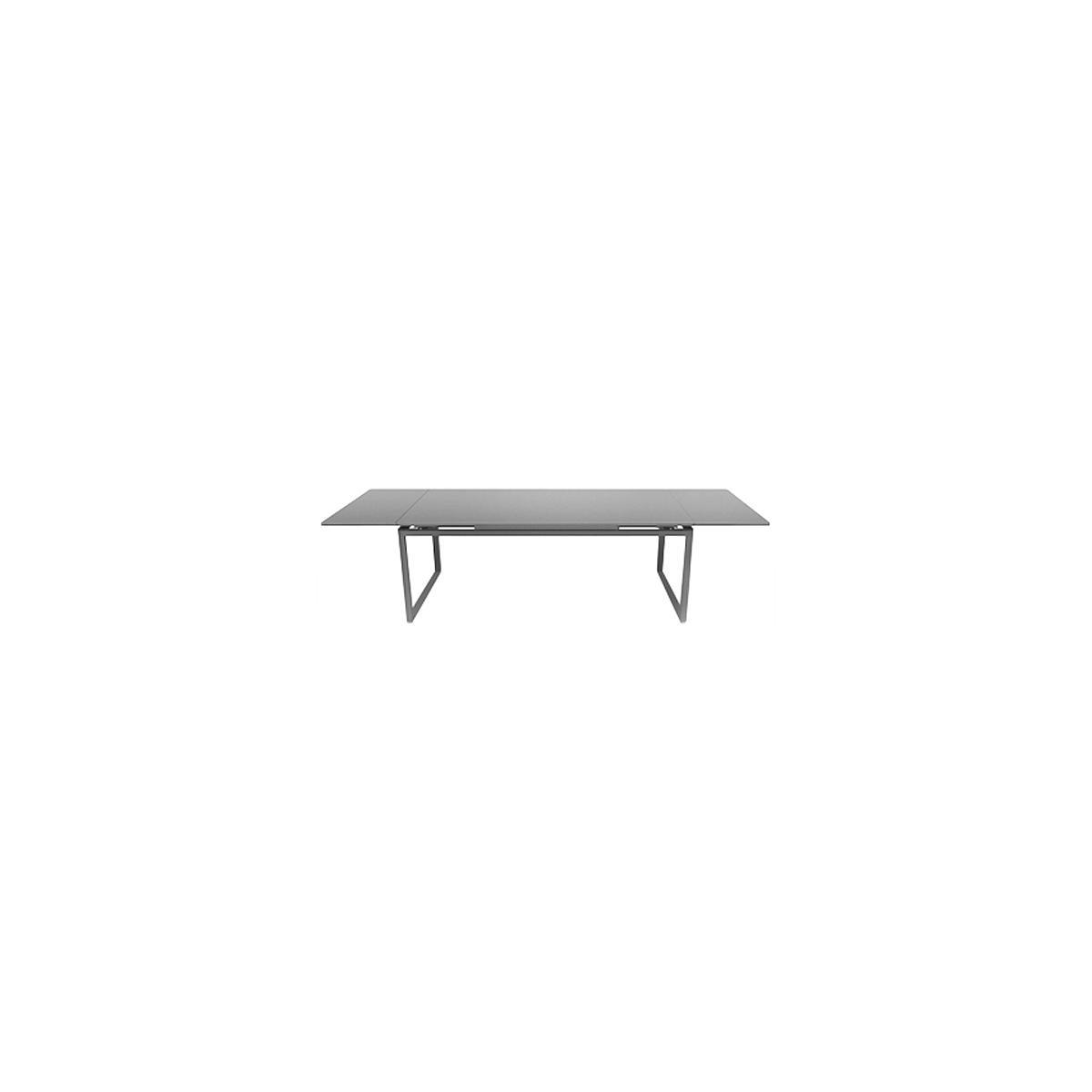 Table 2 rallonges 100x300cm BIARRITZ Fermob Gris métal