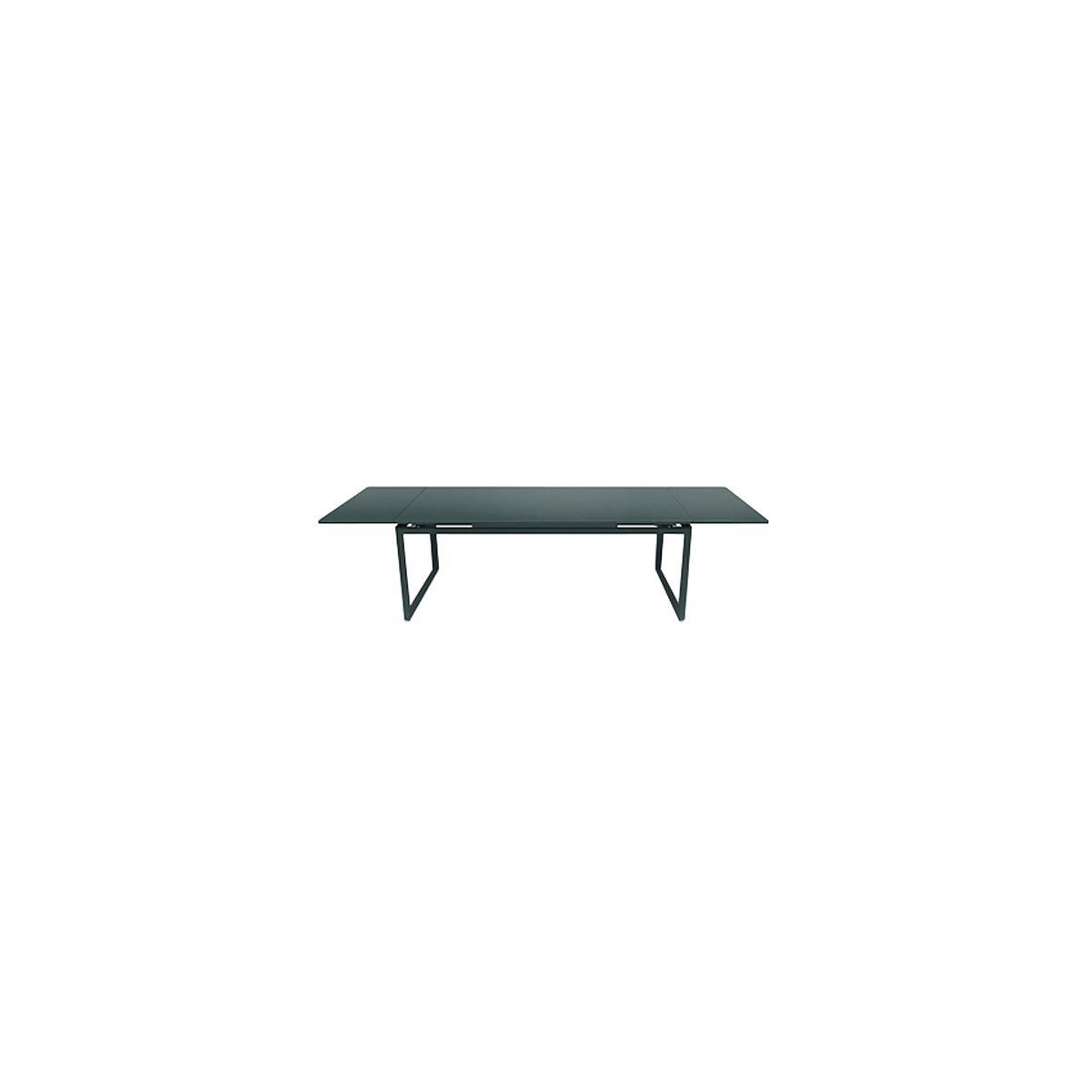 Table 2 rallonges 100x300cm BIARRITZ Fermob Gris orage