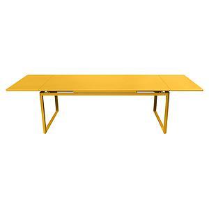 Table 2 rallonges 100x300cm BIARRITZ Fermob Jaune miel