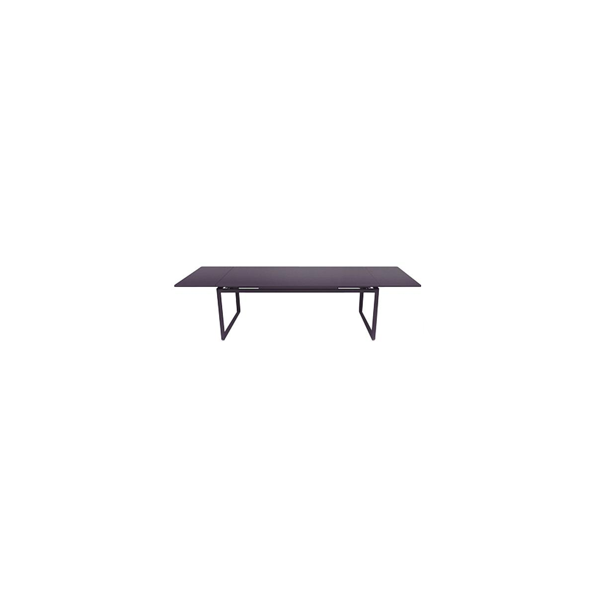 Table 2 rallonges 100x300cm BIARRITZ Fermob Mauve prune