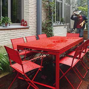 Table 2 rallonges 100x300cm BIARRITZ Fermob Noir réglisse