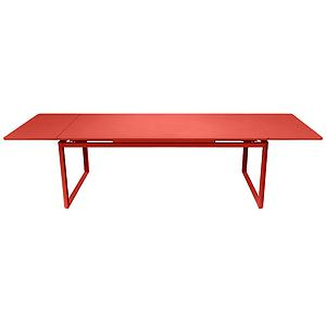Table 2 rallonges 100x300cm BIARRITZ Fermob Orange capucine