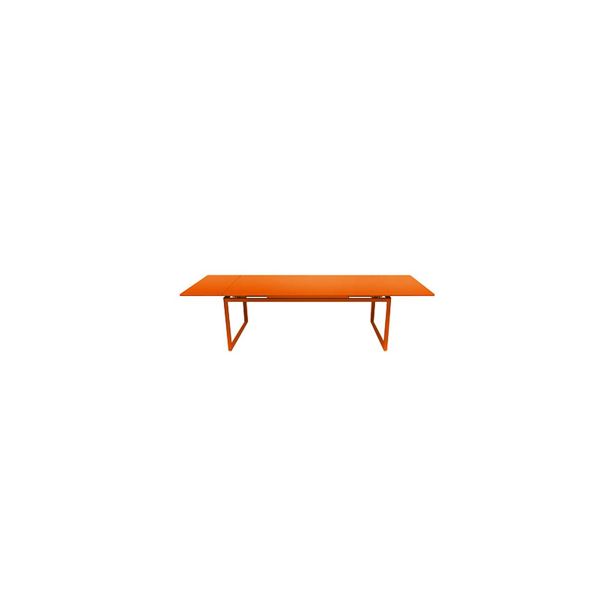 Table 2 rallonges 100x300cm BIARRITZ Fermob Orange carotte