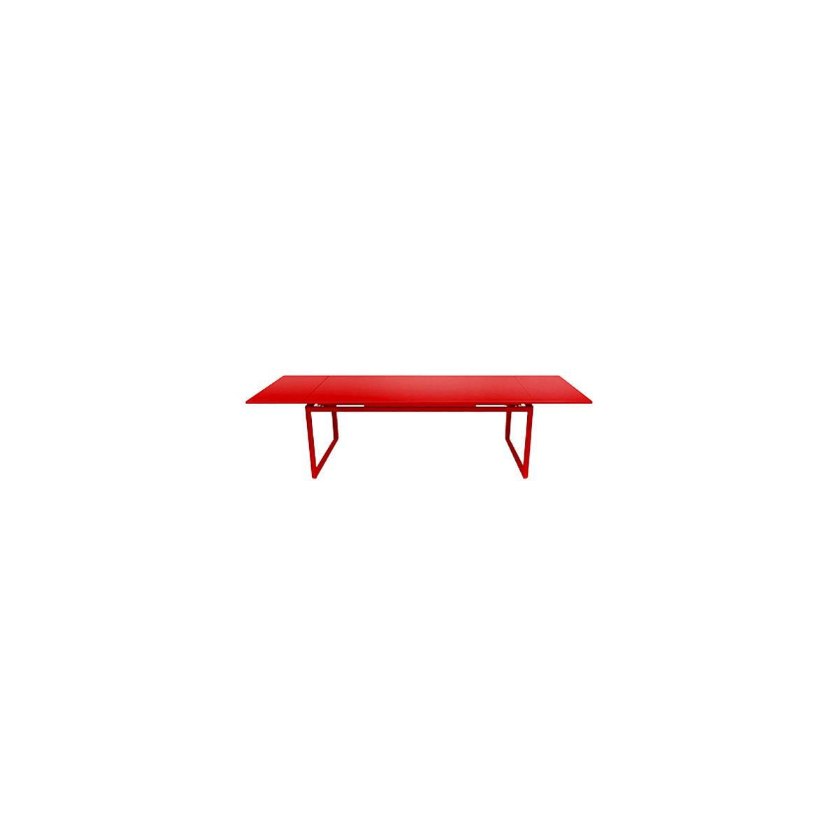 Table 2 rallonges 100x300cm BIARRITZ Fermob Rouge coquelicot