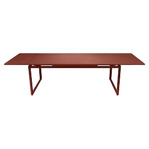 Table 2 rallonges 100x300cm BIARRITZ Fermob rouge ocre