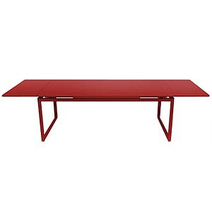 Table 2 rallonges 100x300cm BIARRITZ Fermob Rouge piment d'espelette