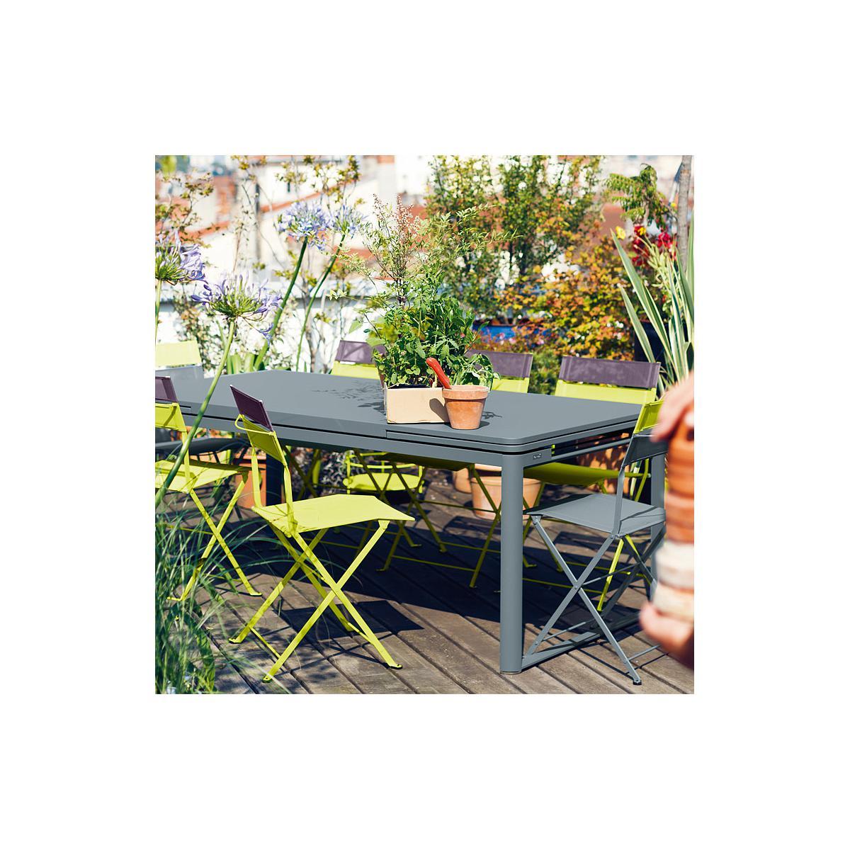 Table 2 rallonges 100x300cm BIARRITZ Fermob Vert cèdre