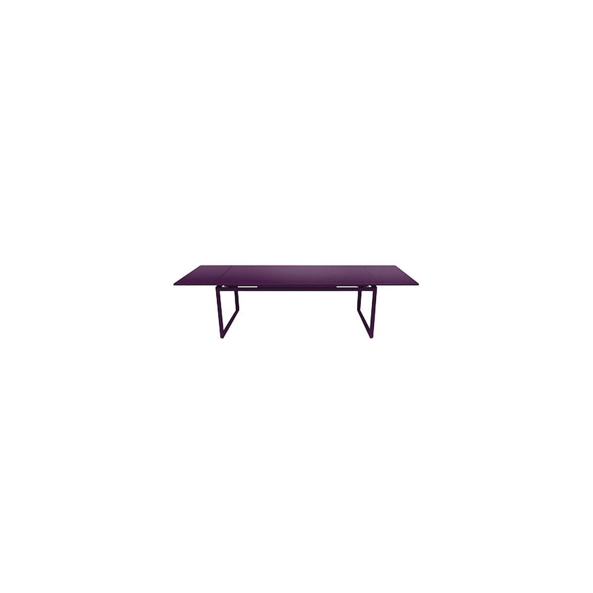 Table 2 rallonges 100x300cm BIARRITZ Fermob Violet aubergine