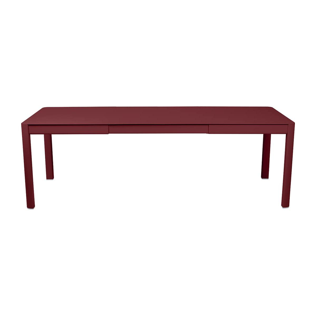 Table 2 rallonges 234x100cm RIBAMBELLE Fermob Piment
