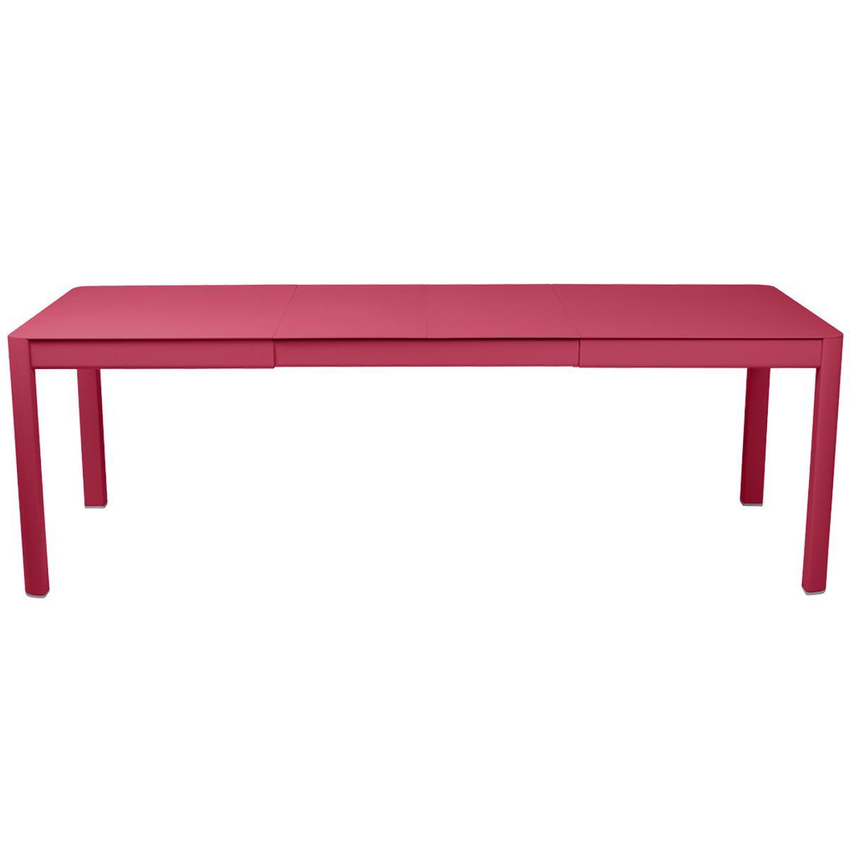 Table 2 rallonges 234x100cm RIBAMBELLE Fermob Rose praline
