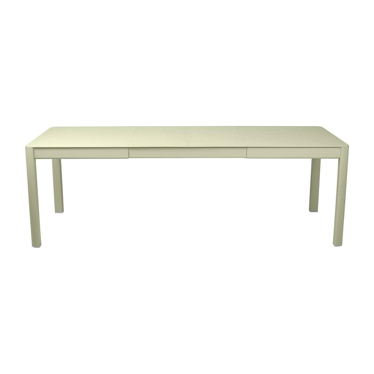 Table 2 rallonges 234x100cm RIBAMBELLE Fermob Vert Tilleul