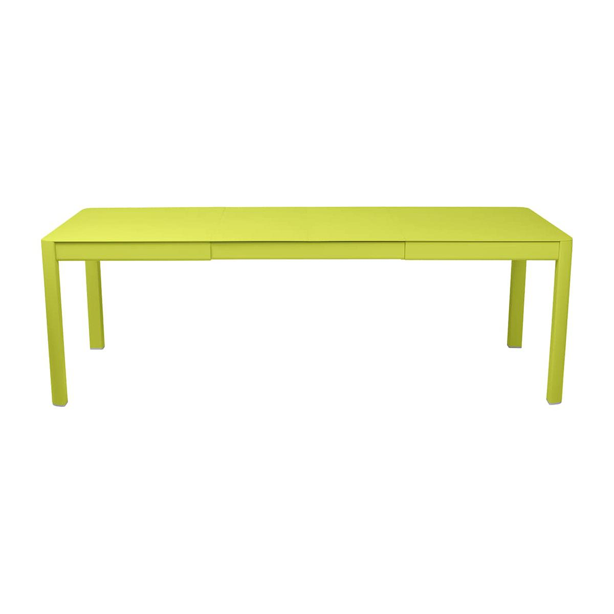 Table 2 rallonges 234x100cm RIBAMBELLE Fermob Verveine