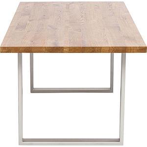 Table 200x100cm JACKIE Kare Design chêne-argenté