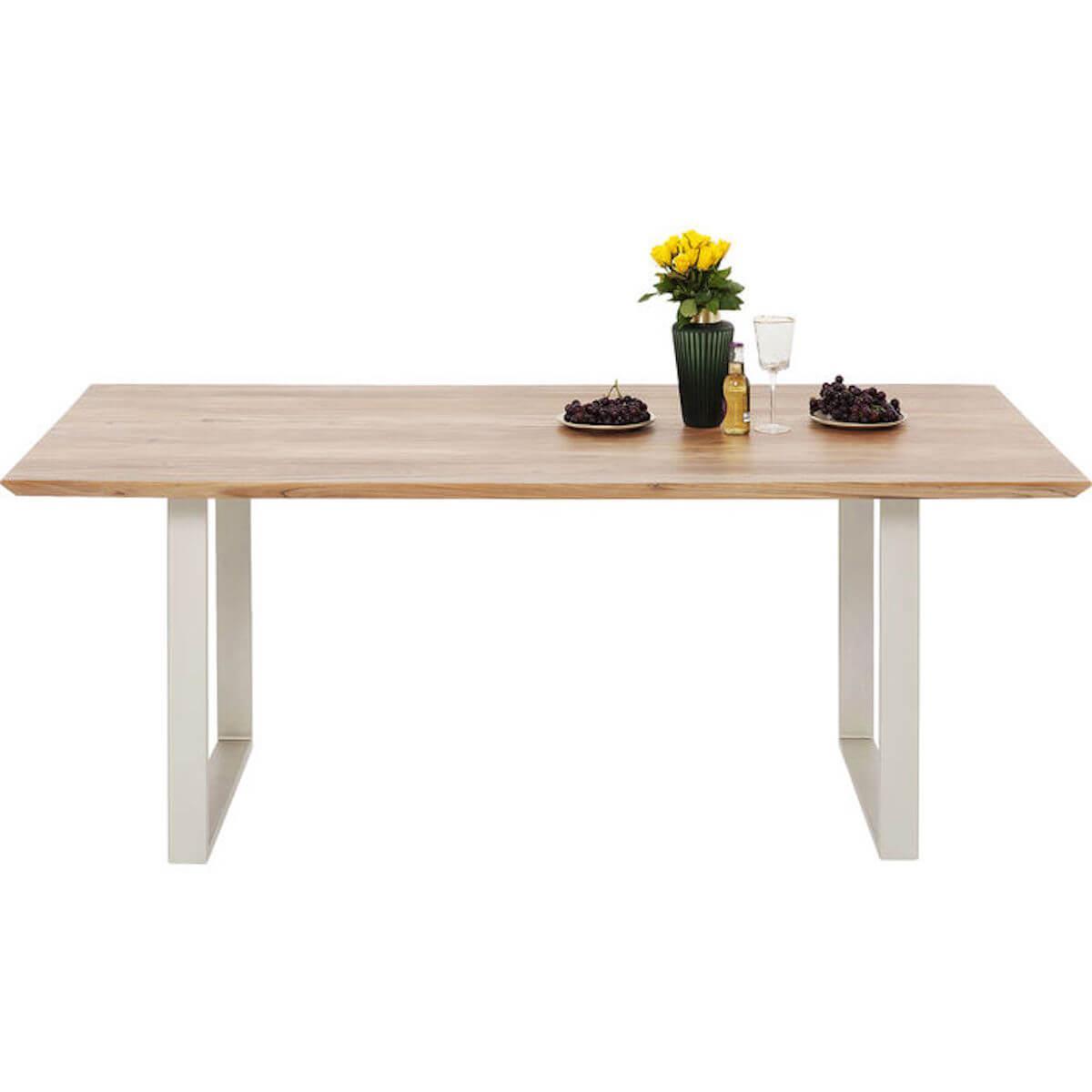 Table 200x100cm SYMPHONY Kare Design argenté