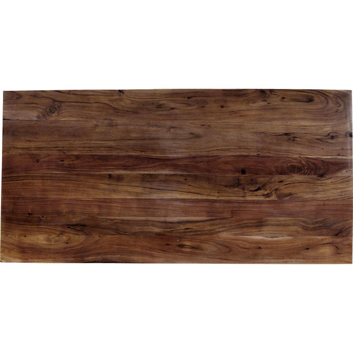 Table 200x100cm SYMPHONY Kare Design noyer acier brut