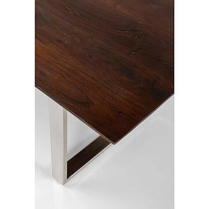 Table 200x100cm SYMPHONY Kare Design noyer-chromé