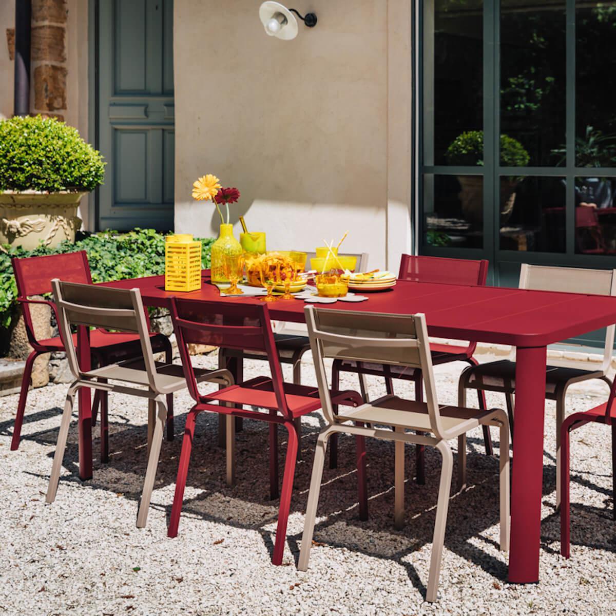 Table 205x100cm OLERON Fermob gris argile