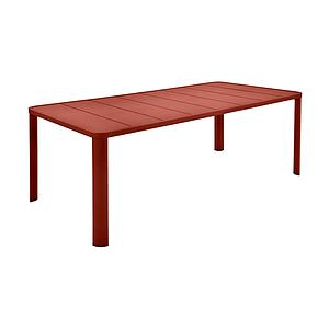 Table 205x100cm OLERON Fermob rouge ocre