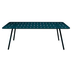 Table 207x100cm LUXEMBOURG Fermob bleu acapulco