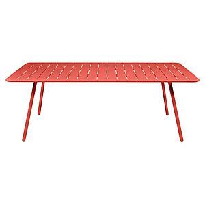 Table 207x100cm LUXEMBOURG Fermob capucine