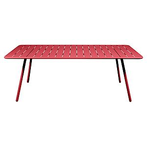 Table 207x100cm LUXEMBOURG Fermob coquelicot