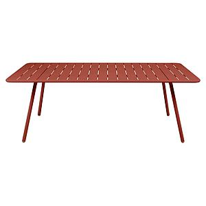 Table 207x100cm LUXEMBOURG Fermob rouge ocre