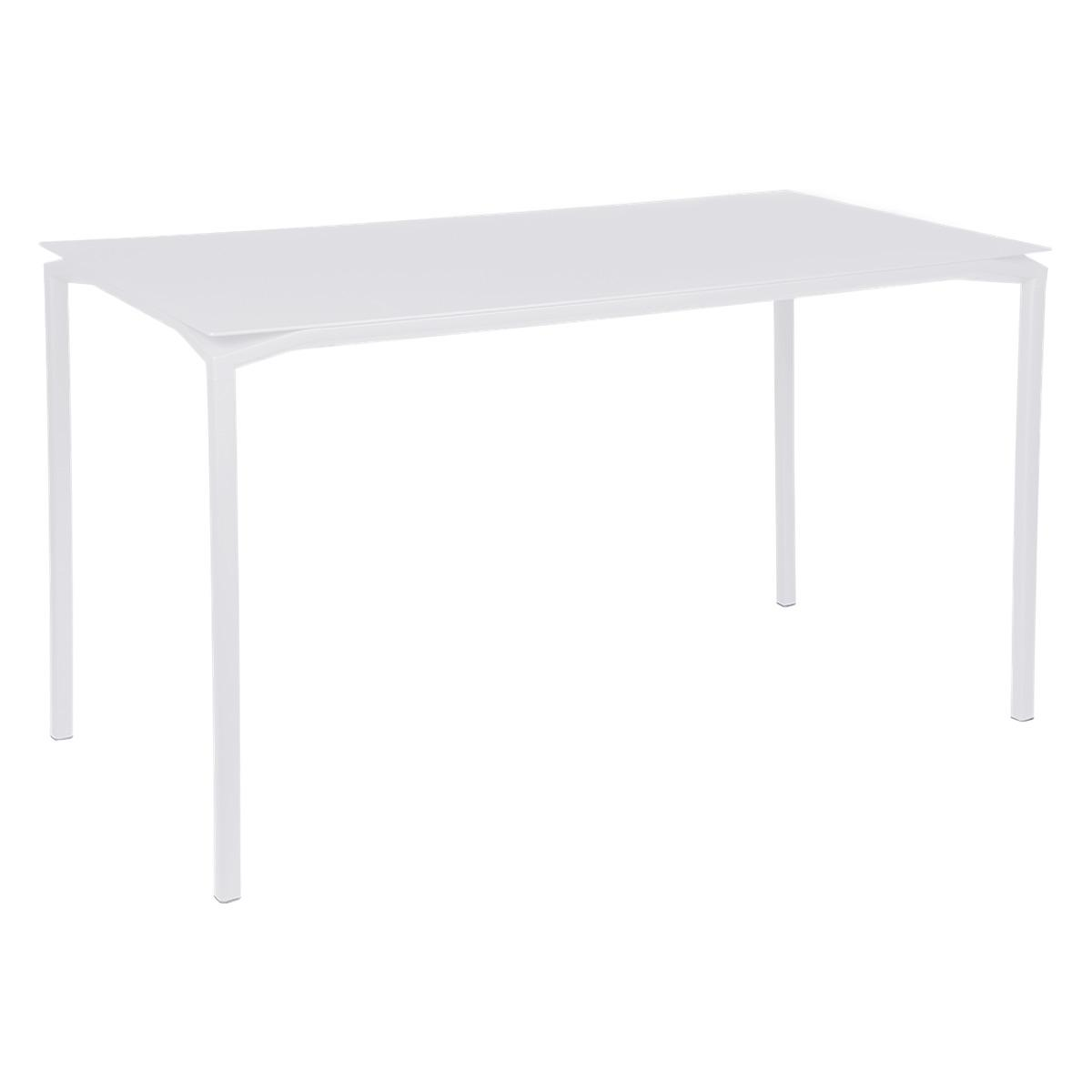 Table 80x160cm CALVI Fermob blanc coton