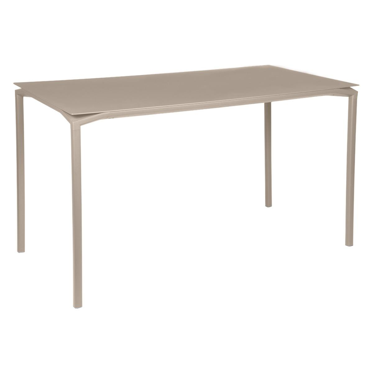 Table 80x160cm CALVI Fermob brun muscade