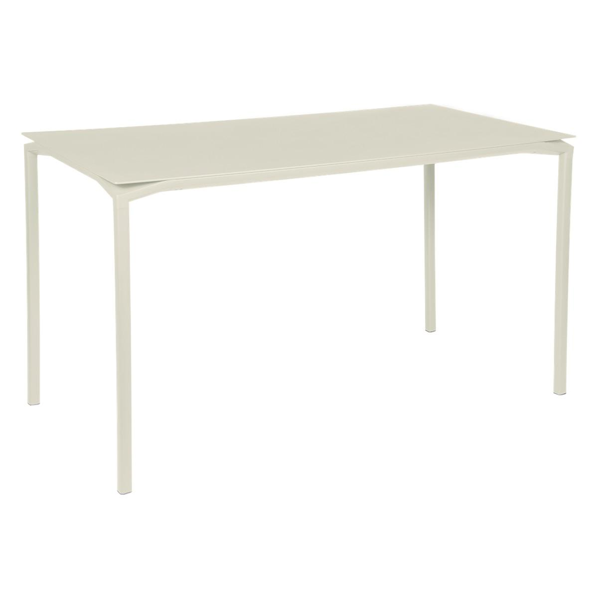 Table 80x160cm CALVI Fermob gris argile