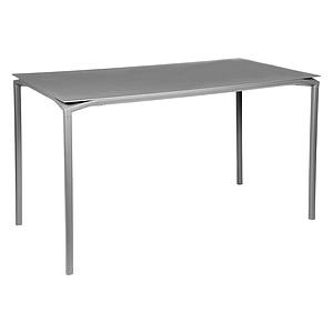 Table 80x160cm CALVI Fermob gris métal