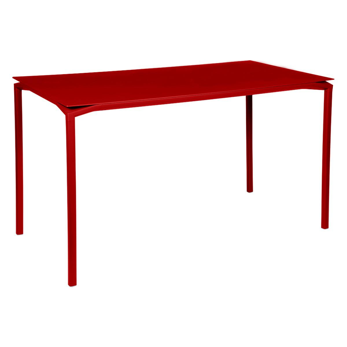 Table 80x160cm CALVI Fermob rouge coquelicot