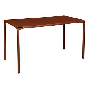 Table 80x160cm CALVI Fermob rouge ocre