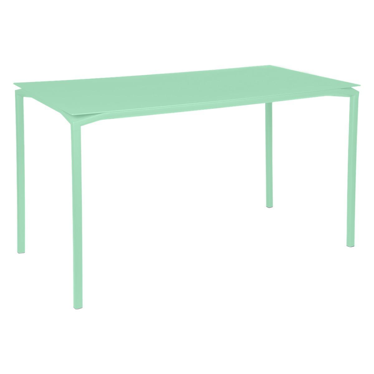 Table 80x160cm CALVI Fermob vert opaline