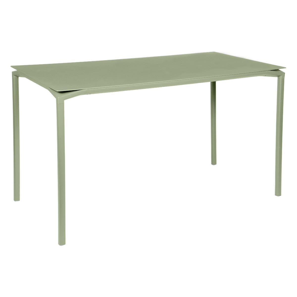 Table 80x160cm CALVI Fermob vert tilleul