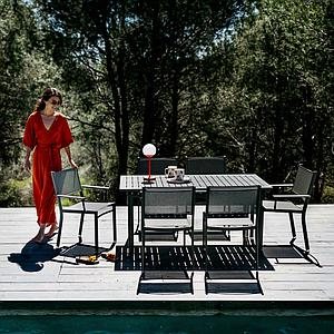 Table 80x160cm COSTA Fermob Blanc coton