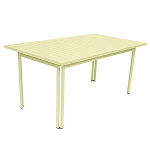 Table 80x160cm COSTA Fermob citron givré
