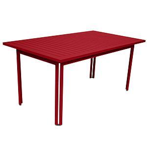 Table 80x160cm COSTA Fermob Coquelicot