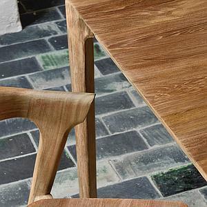 Table 90x180cm BOX Ethnicraft teck