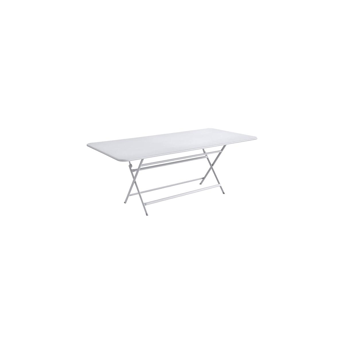 Table 90x190cm pliante CARACTERE Fermob Blanc Coton