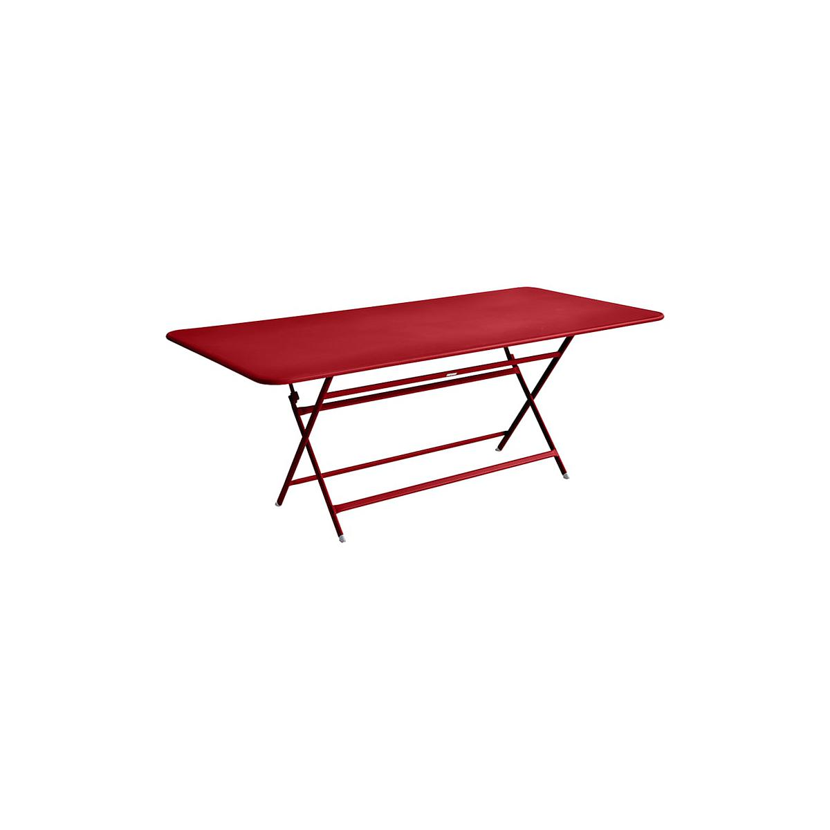Table 90x190cm pliante CARACTERE Fermob Coquelicot