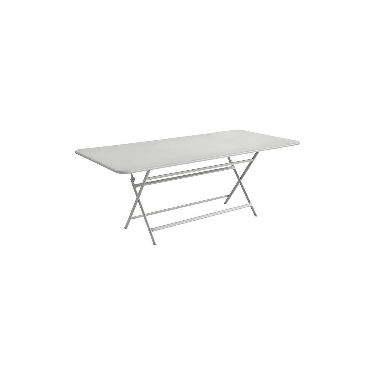 Table 90x190cm pliante CARACTERE Fermob Gris Métal