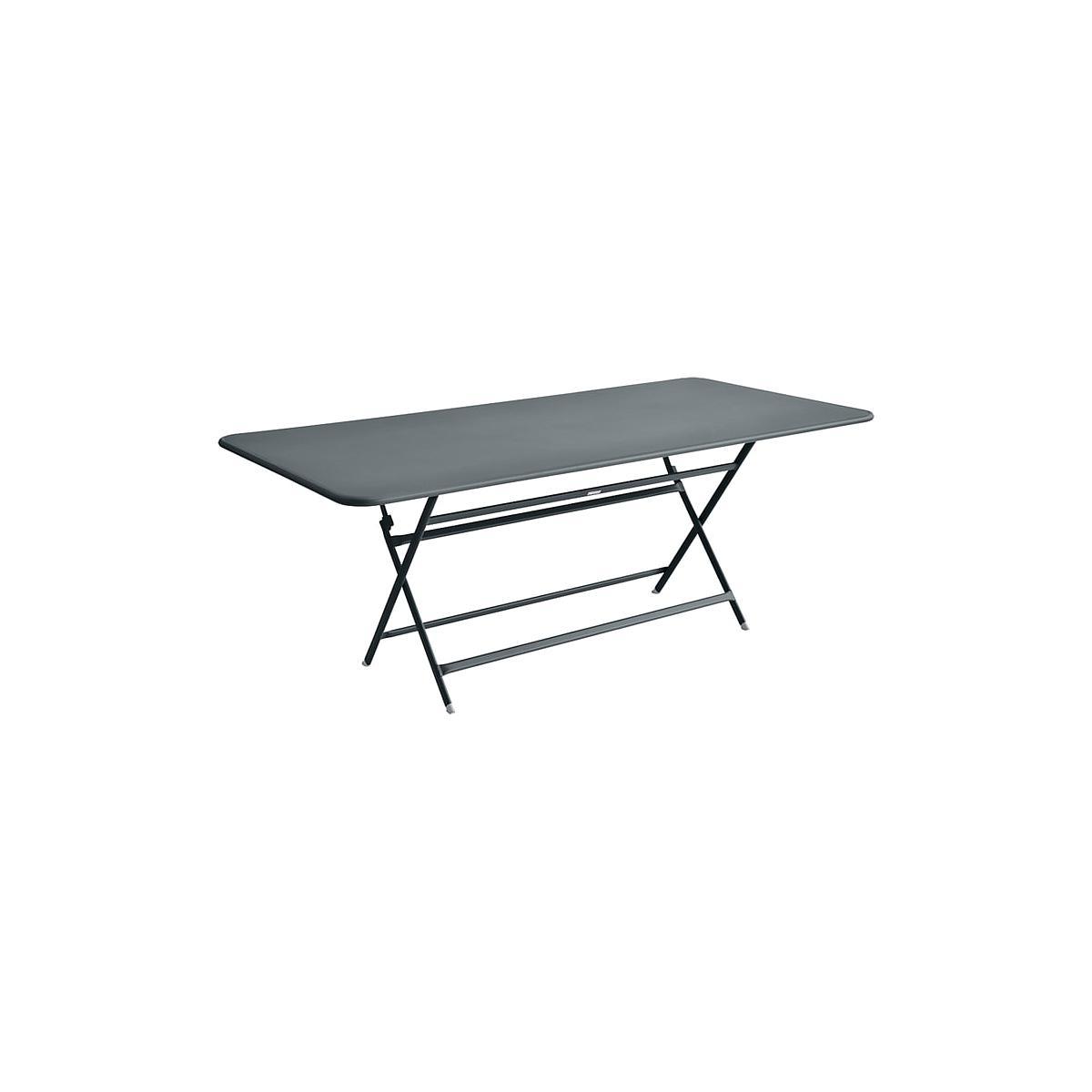 Table 90x190cm pliante CARACTERE Fermob Gris Orage