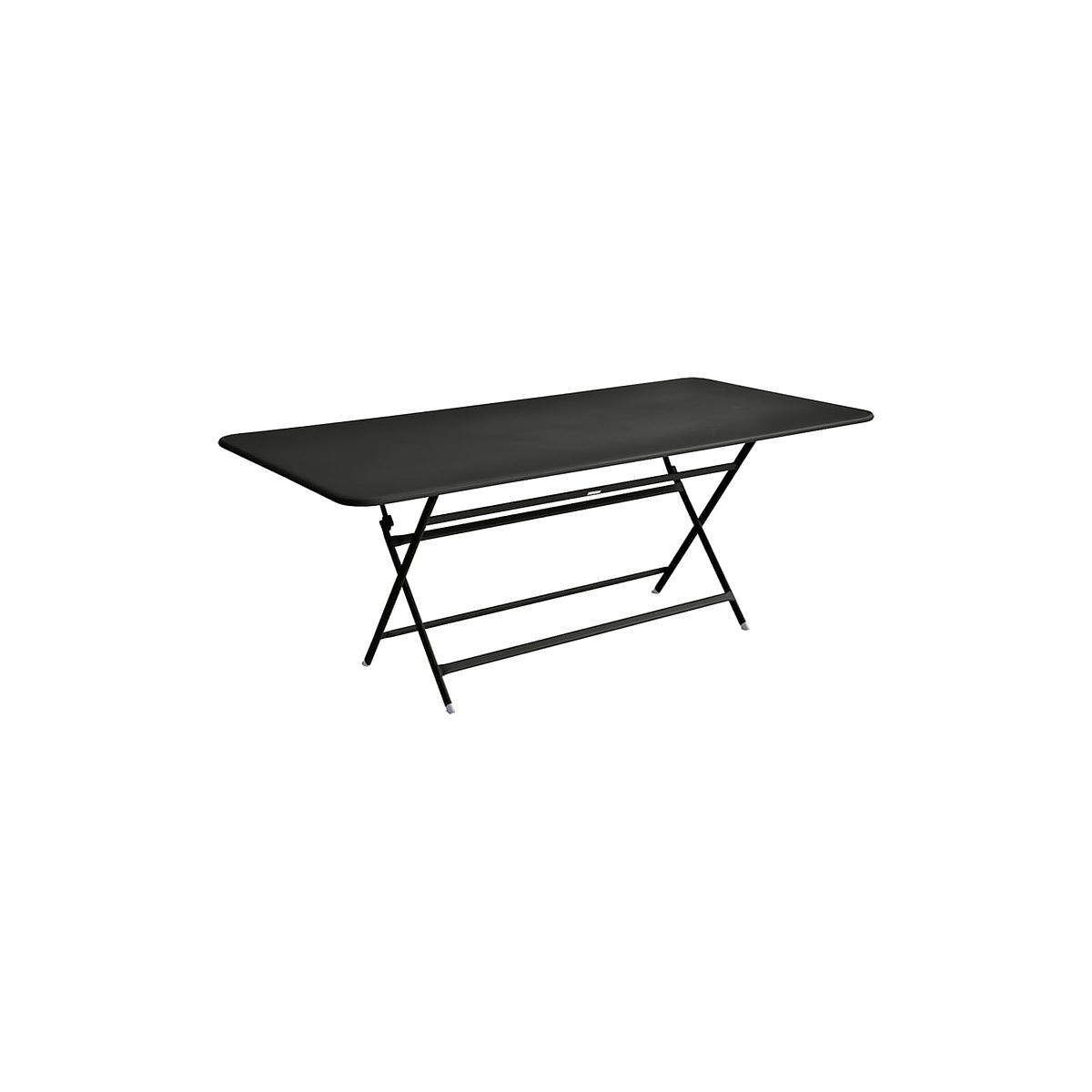 Table 90x190cm pliante CARACTERE Fermob Réglisse