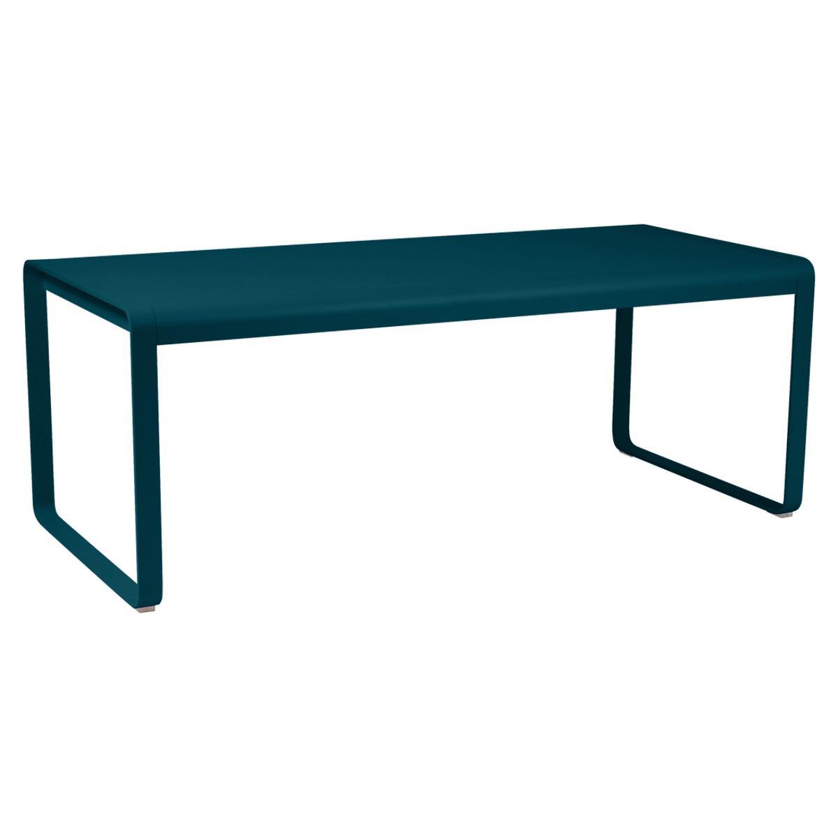 Table 90x196cm BELLEVIE PREMIUM Fermob bleu acapulco