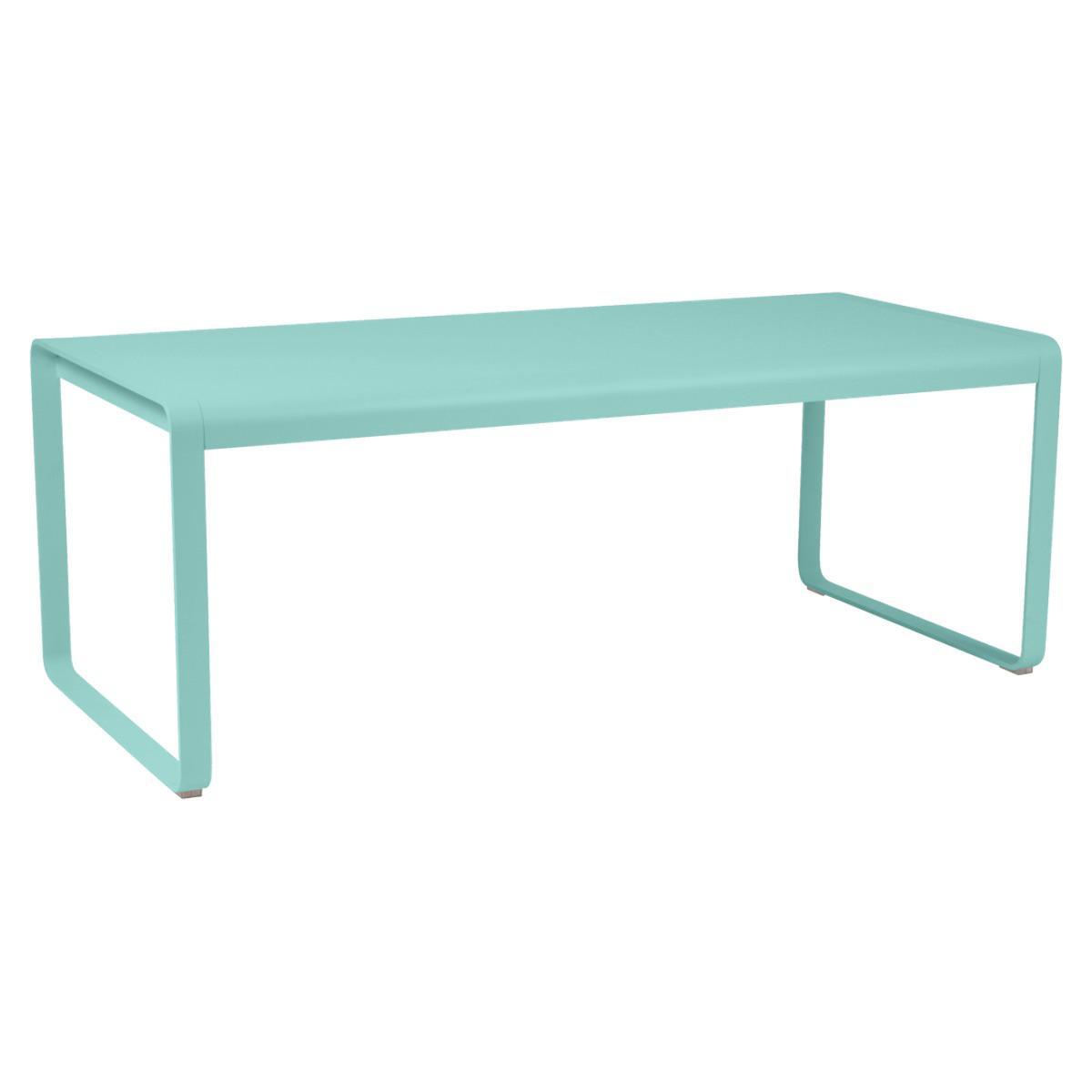 Table 90x196cm BELLEVIE PREMIUM Fermob bleu lagune