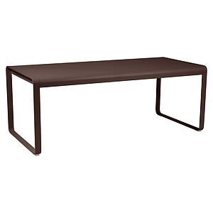 Table 90x196cm BELLEVIE PREMIUM Fermob brun rouille