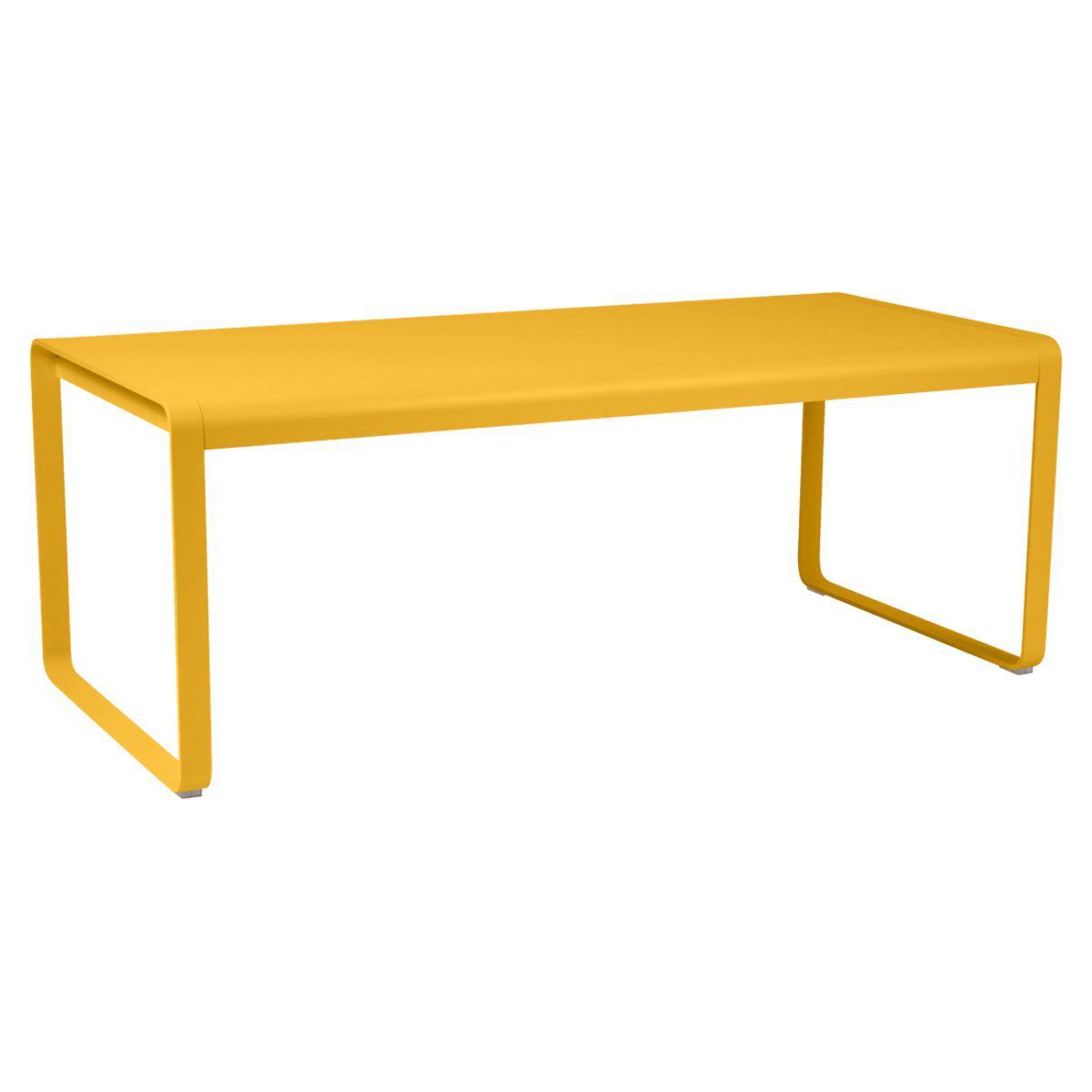 Table 90x196cm BELLEVIE PREMIUM Fermob jaune miel
