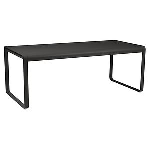 Table 90x196cm BELLEVIE PREMIUM Fermob noir réglisse